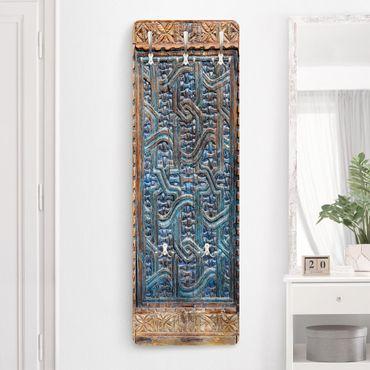 Appendiabiti shabby - Porta con intaglio marocchino