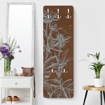 Appendiabiti - Blue flowers sketch