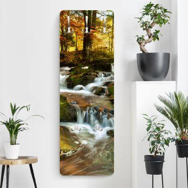 Appendiabiti paesaggi - Cascata nella foresta autunnale
