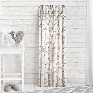Appendiabiti da parete effetto legno - Tronchi di betulle