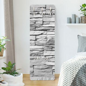 Appendiabiti bianco - Effetto pietra Ashlar Masonry - Stile provenzale