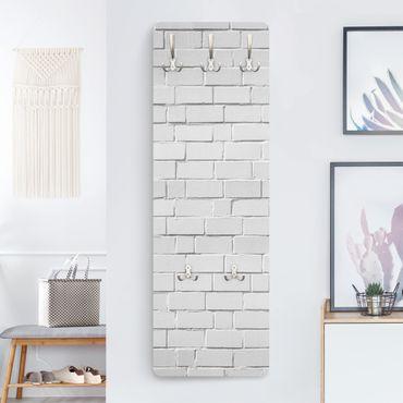 Appendiabiti effetto pietra - Bianco Muro di pietra