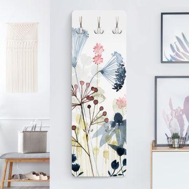 Appendiabiti - Fiori selvatici in acquerello I