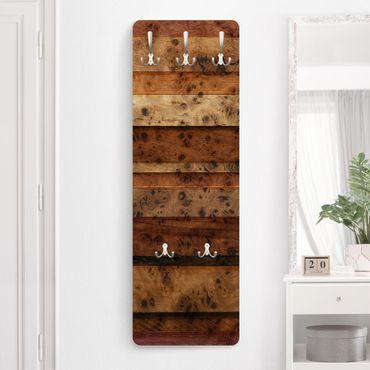 Appendiabiti - Woody Birdseye - Effetto legno stile provenzale rustico