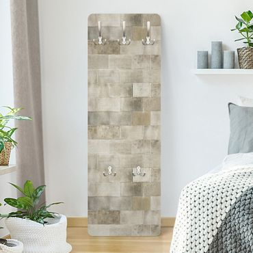Appendiabiti effetto pietra - Muro mattoni di cemento