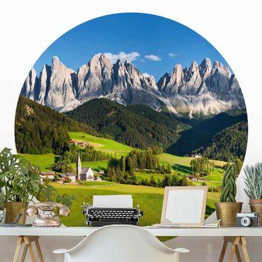 Carta da parati rotonda autoadesiva - Odle in Alto Adige