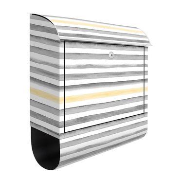 Cassetta postale - Giallo e grigio in strisce di acquerello