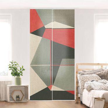 Tenda scorrevole set -Volpe geometrica - Pannello