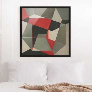 Poster con cornice - Volpe geometrica