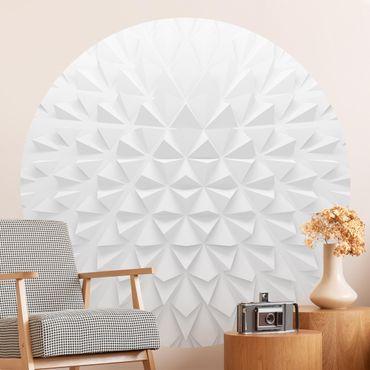 Carta da parati rotonda autoadesiva - Disegno geometrico effetto 3D