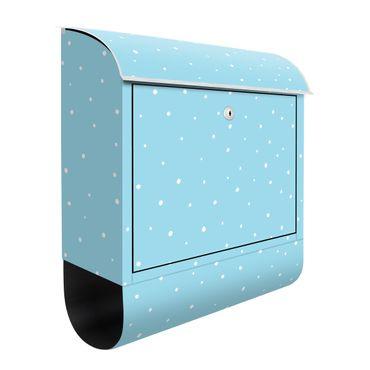 Cassetta postale - Piccoli punti disegnati su blu pastello