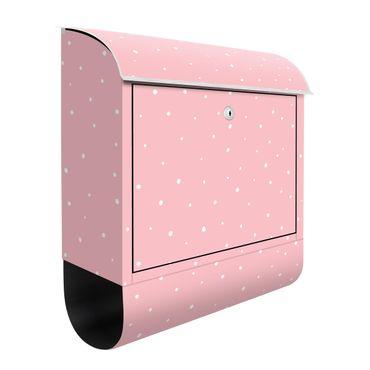 Cassetta postale - Piccoli punti disegnati su rosa pastello
