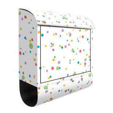 Cassetta postale - Piccoli punti disegnati a colori