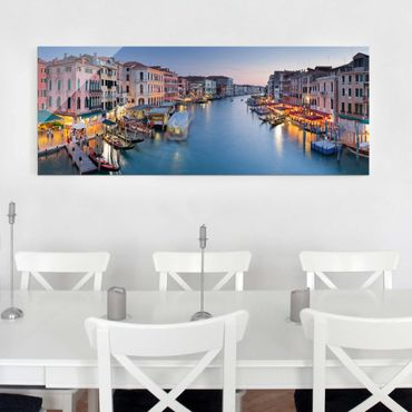 Quadro in vetro - Evening on Grand Canal in Venice - Panoramico