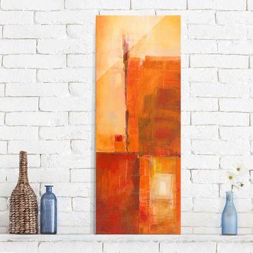 Quadro in vetro - Petra Schüßler - Abstract Orange Brown - Pannello