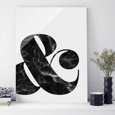 Quadro in vetro - Ampersand Marble - Verticale 3:4
