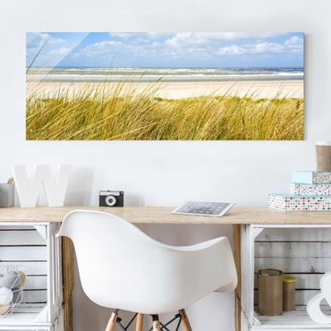 Quadro in vetro - On the North Sea coast - Panoramico