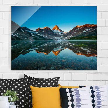 Quadro su vetro - Mountain Landscape at Lake Magog in Canada - Orizzontale 4:3