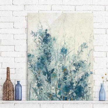 Quadro in vetro - Blue Spring Meadow I - Verticale 3:4