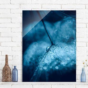 Quadro in vetro - Tarassaco Blu In The Rain - Verticale 3:4