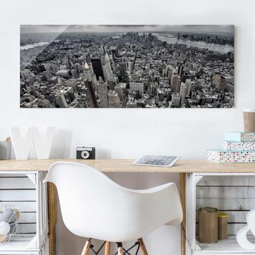 Quadro in vetro - View Over Manhattan - Panoramico