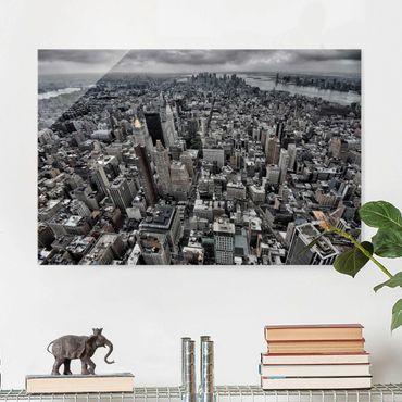Quadro in vetro - View Over Manhattan - Orizzontale 3:2
