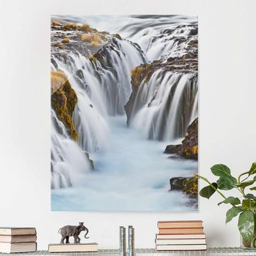 Quadro in vetro - Bruarfoss waterfall in Iceland - Verticale 3:4