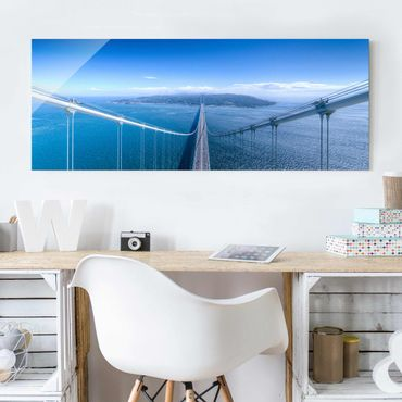 Quadro in vetro - Bridge to the Islanda - Panoramico