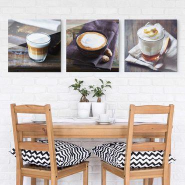 Quadro in vetro - Caffè Latte - 3 parti