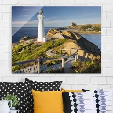 Quadro in vetro - Castle Point Lighthouse New Zealand - Large 3:4