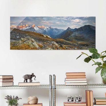 Quadro in vetro - Col De Fenêtre Switzerland - Panoramico