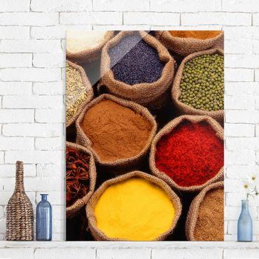 Quadro in vetro - Colourful Spices - Verticale 3:4