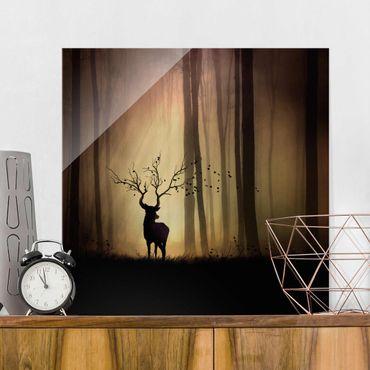 Quadro in vetro - Il Signore della Foresta - Quadrato 1:1