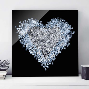 Quadro in vetro - Diamond Heart - Quadrato 1:1