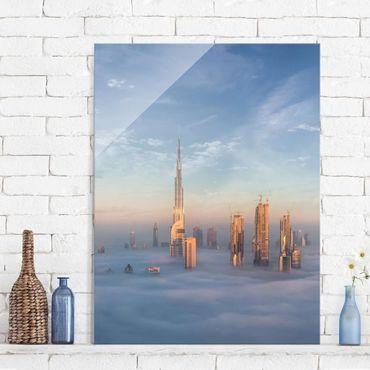 Quadro in vetro - Dubai Sopra Le Nuvole - Verticale 3:4