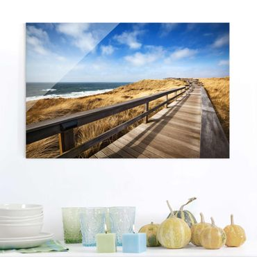 Quadro su vetro - Pathway throug dunes at the North Sea at Sylt - Orizzontale 3:2