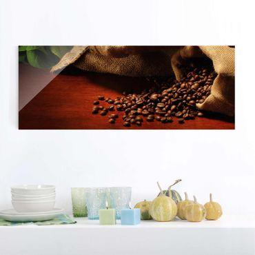 Quadro in vetro - Dulcet Coffee - Panoramico
