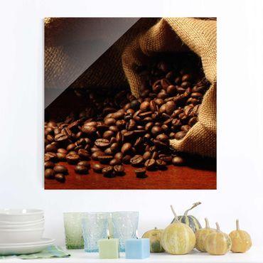 Quadro in vetro - Dulcet Coffee - Quadrato 1:1