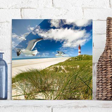Quadro in vetro - Dune Breeze - Quadrato 1:1