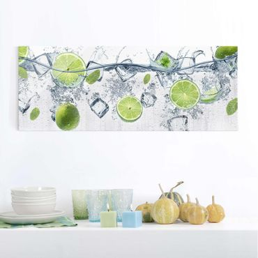 Quadro in vetro - Refreshing lime - Panoramico