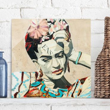 Quadro in vetro - Frida Kahlo - Collage No.1 - Quadrato 1:1