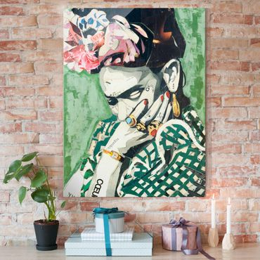 Quadro in vetro - Frida Kahlo - Collage No.3 - Verticale 3:4