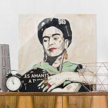 Quadro in vetro - Frida Kahlo - Collage No.4 - Quadrato 1:1