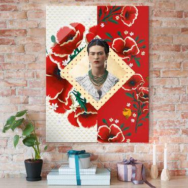 Quadro in vetro - Frida Kahlo - Poppies - Verticale 3:4