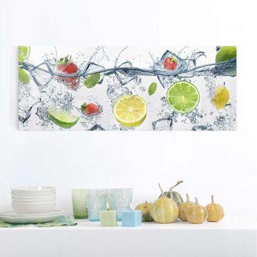 Quadro in vetro cucina - Cocktail di frutta - Panoramico