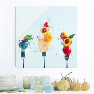 Quadro in vetro - Fruit Salad - Quadrato 1:1