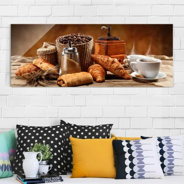 Quadro in vetro - Breakfast Table - Panoramico