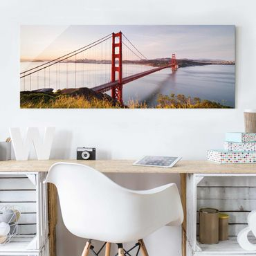 Quadro in vetro - Golden Gate Bridge in San Francisco - Panoramico