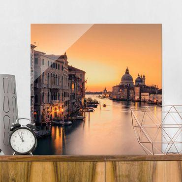 Quadro in vetro - d'oro Venezia - Quadrato 1:1