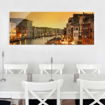 Quadro in vetro - Grand Canal of Venice - Panoramico